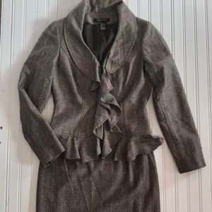 Gorgeous wool blend skirt and jacket suit